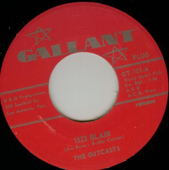 "OUTCASTS ""1523 BLAIR / SMOKESTACK LIGHTNING"" 7"""