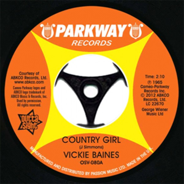 """Vickie Baines """"Country Girl/ Are You Kidding"""" 7"""""""