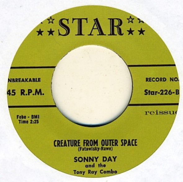 """SONNY DAY """"BEYOND THE SHADOW OF A DOUBT/Creature From Outer Space"""" 7"""""""