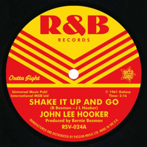 "JOHN LEE HOOKER ""Shake It Up And Go"" / HERB ZANE ""Twistin' At The Pit"" 7"""