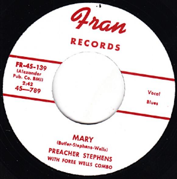 "PREACHER STEPHENS ""MARY / UNEMPLOYMENT BLUES"" 7"""