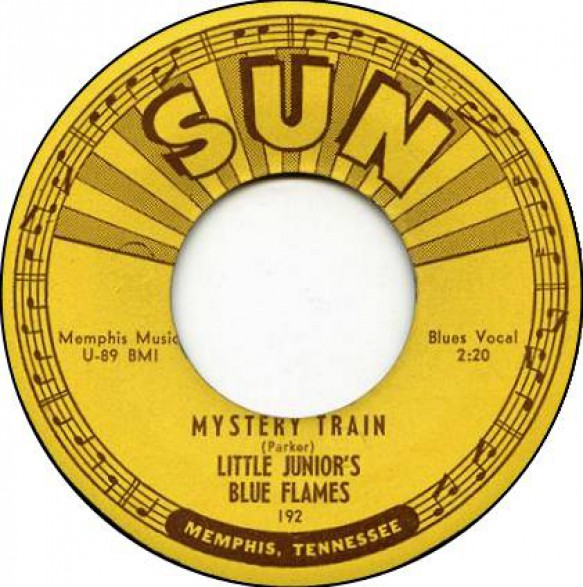 "LITTLE JUNIOR'S BLUE FLAMES ""MYSTERY TRAIN / LOVE MY BABY"" 7"""