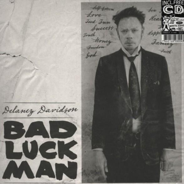 """DELANEY DAVIDSON """"BAD LUCK MAN"""" LP+CD"""