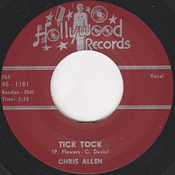 """Chris Allen """"Tick Tock / Lonely"""" 7"""""""
