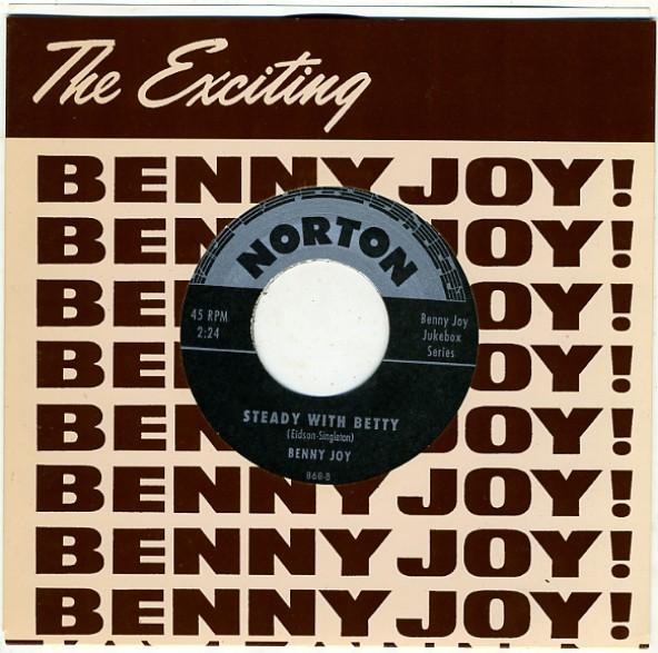 "BENNY JOY ""MISS BOBBY SOX/STEADY WITH BETTY"" 7"""