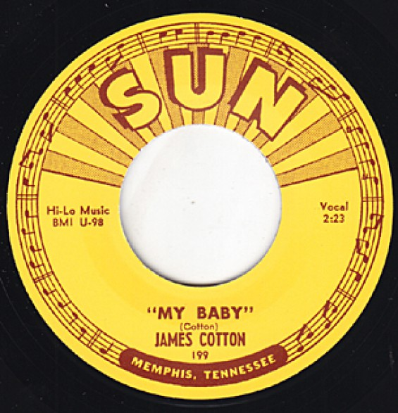 "JAMES COTTON ""MY BABY / STRAIGHTEN UP BABY"" 7"""