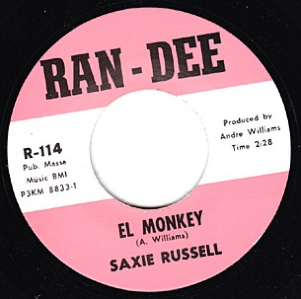 "SAXIE RUSSELL ""EL MONKEY / COME DANCE WITH ME"" 7"""
