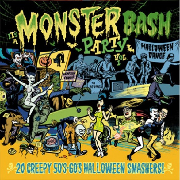"IT'S A MONSTER BASH PARTY! ""Vol. 1: 20 Creepy 50's - 60's Halloween Smashers!"" LP"