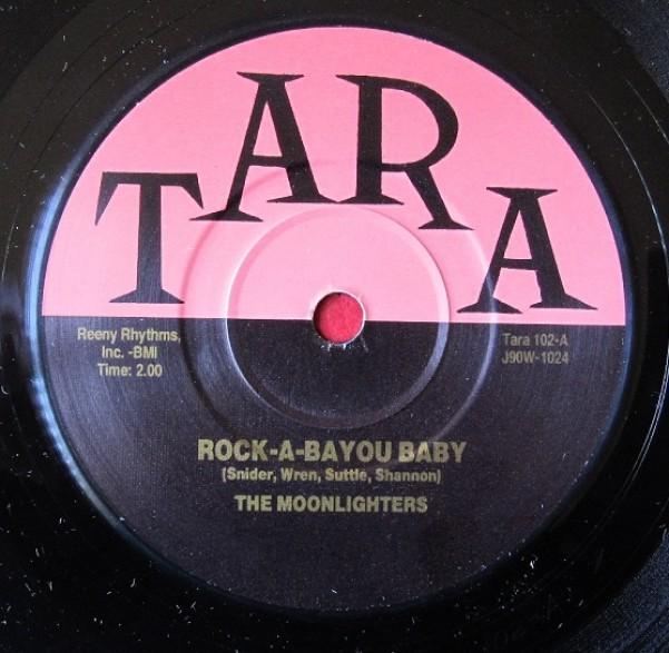 """MOONLIGHTERS """"ROCK-A-BAYOU BABY / BROKEN HEART"""" 7"""""""
