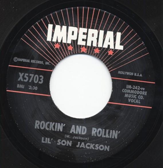 """T-BONE WALKER """"TRAVELIN' BLUES"""" / LIL' SON JACKSON """"ROCKIN' & ROLLIN"""" 7"""""""