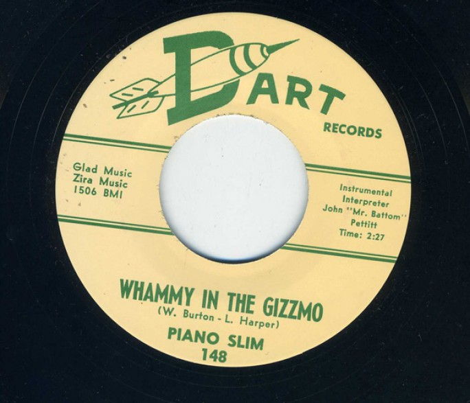 "PIANO SLIM ""WHAMMY IN THE GIZZMO / SQUEEZING"" 7"""