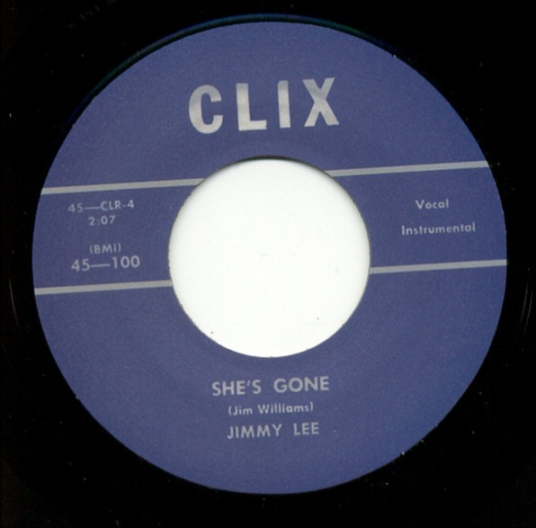 "JIMMY LEE ""She's Gone / Baby, Baby,Baby"" 7"""