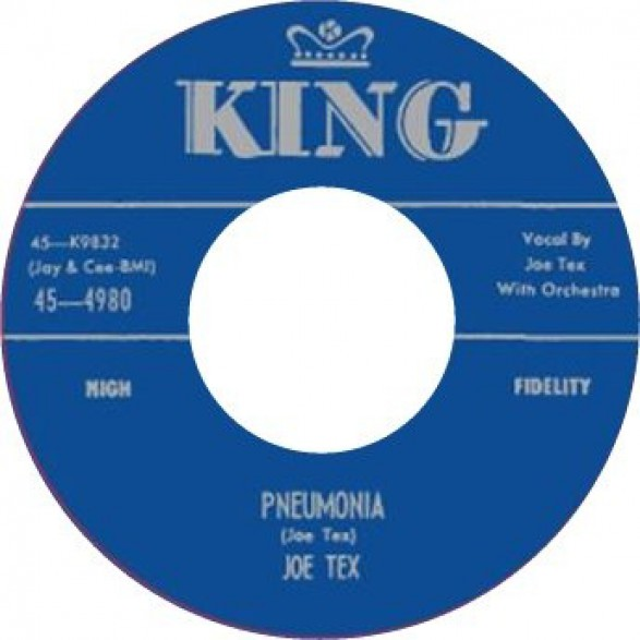 "JOE TEX ""DAVY, YOU UPSET MY HOME/PNEUMONIA"" 7"""