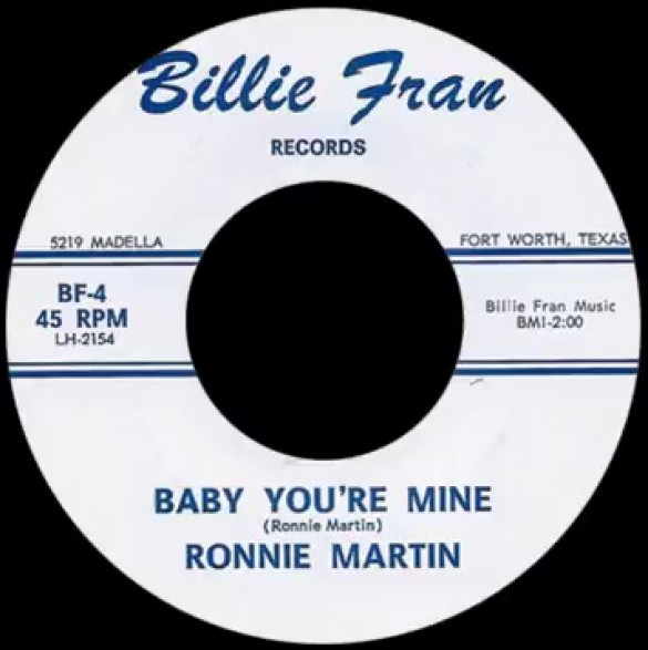 "RONNIE MARTIN ""BABY YOU'RE MINE / STORM OF LOVE"" 7"""