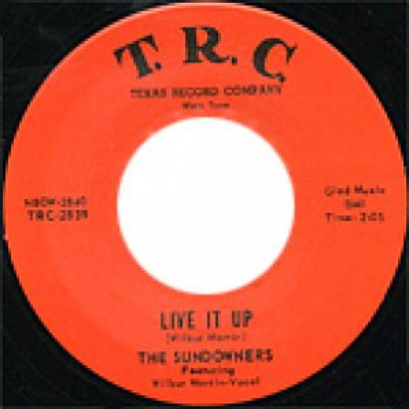 "SUNDOWNERS ""LIVE IT UP"" 7"""