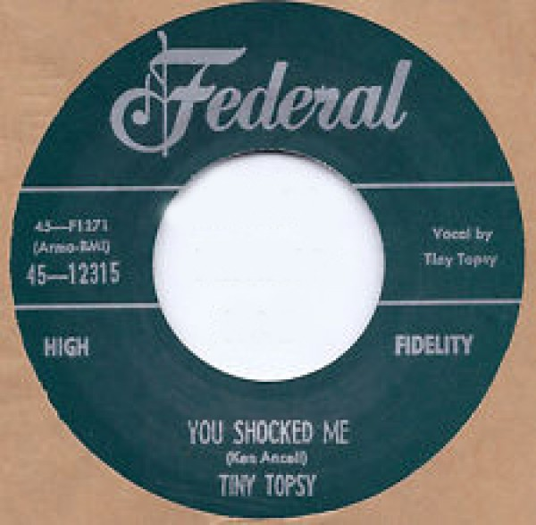 """Tiny Topsy """"You Shocked Me / Miss You So"""" 7"""""""