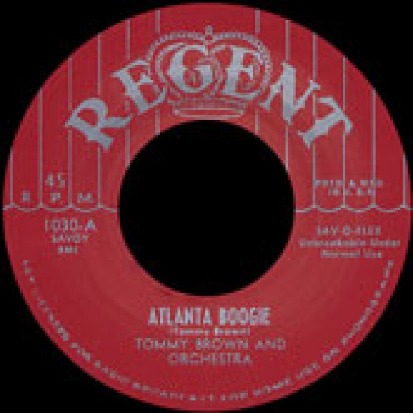 "TOMMY BROWN ""ATLANTA BOOGIE / HOUSE NEAR THE RAILROAD TRACK"" 7"""