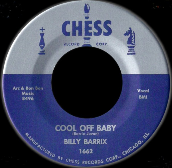 "Billy Barrix ""Cool Off Baby / Almost"" 7"""