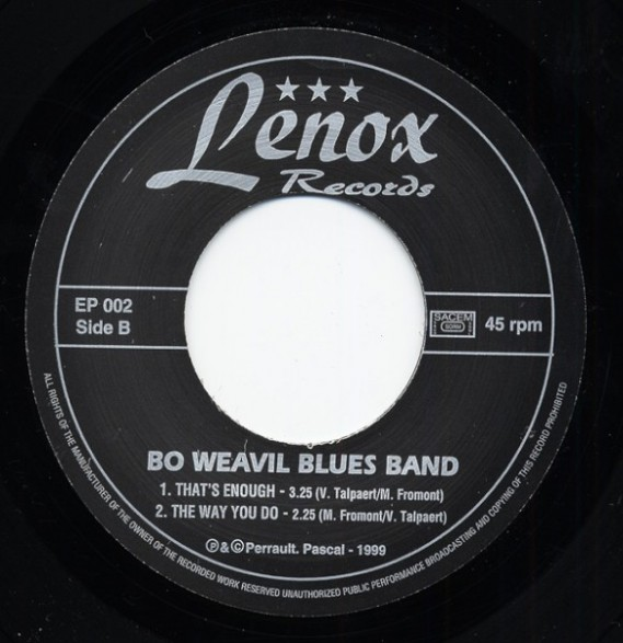 "BO WEAVIL BLUES BAND ""BIG CITY BLUES"" 7"""