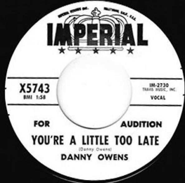 "DANNY OWENS ""YOU'RE A LITTLE TOO LATE /I THINK OF YOU"" 7"""