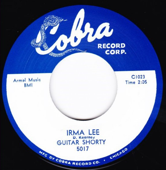 """GUITAR SHORTY """"IRMA LEE / YOU DON'T TREAT ME RIGHT"""" 7"""""""
