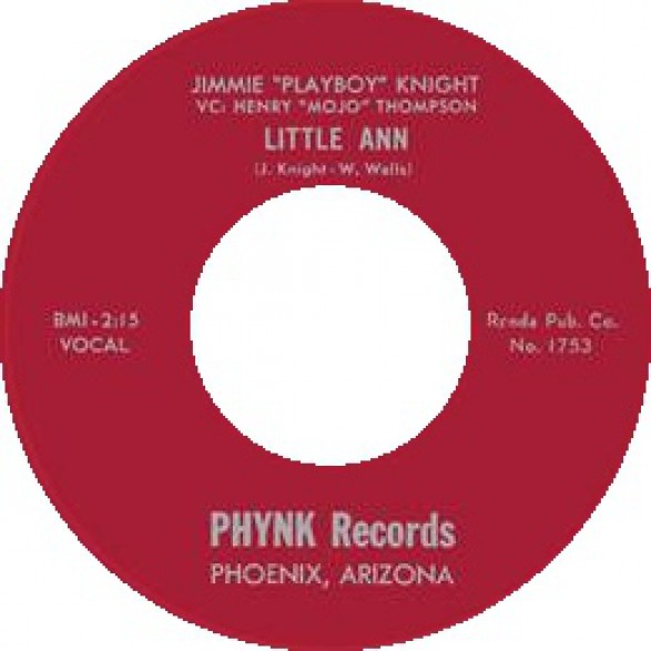 "JIMMIE ""PLAYBOY"" KNIGHT ""LITTLE ANN / AT NADENS EBONY DOOR"" 7"""
