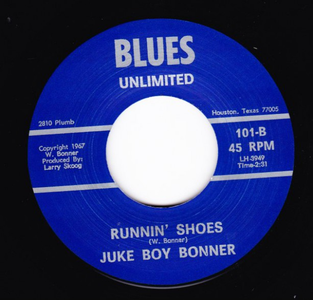 "JUKE BOY BONNER ""RUNNIN' SHOES / YAKIN' IN MY PLANS"" 7"""