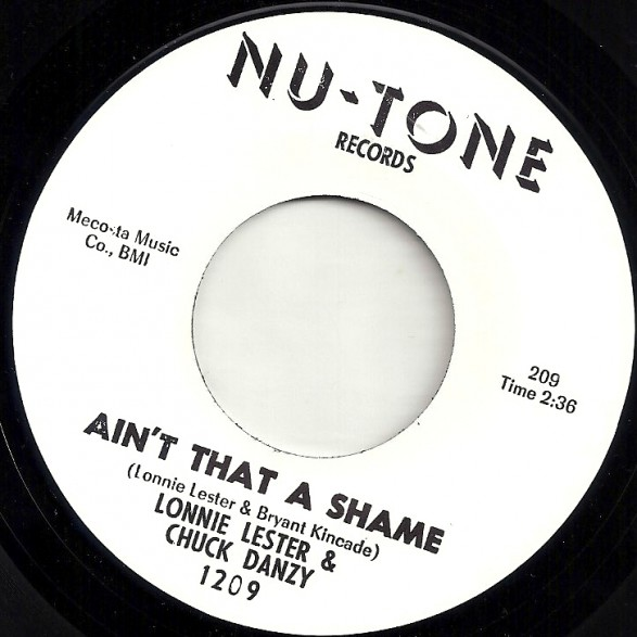 "LONNIE LESTER ""Ain't That A Shame / I Know"" 7"""