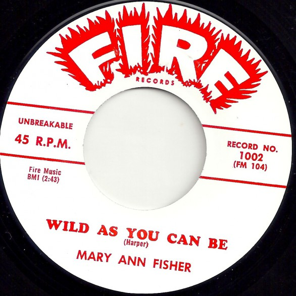 """MARY ANN FISHER """"WILD AS YOU CAN BE / PUT ON MY SHOES"""" 7"""""""