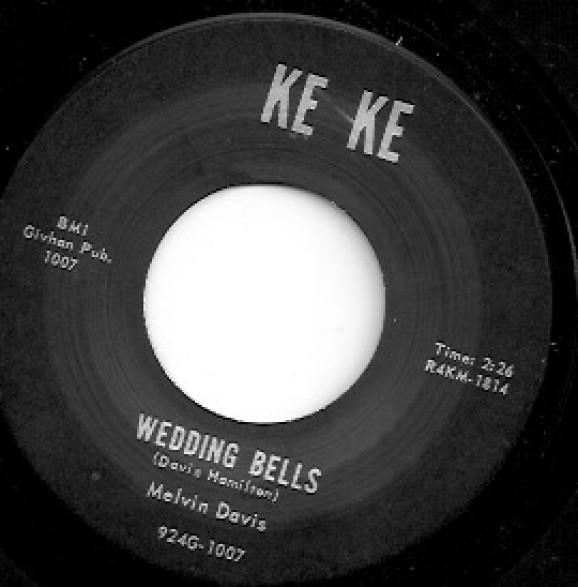 "MELVIN DAVIS ""WEDDING BELLS / IT'S NO NEWS"" 7"""
