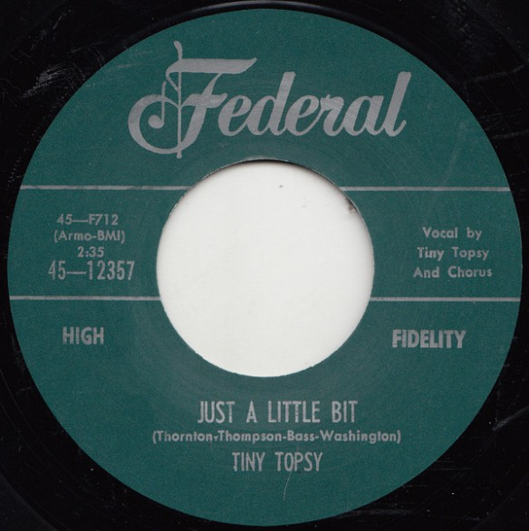 "TINY TOPSY ""JUST A LITTLE BIT / EVERYBODY NEEDS SOME LOVING"" 7"""