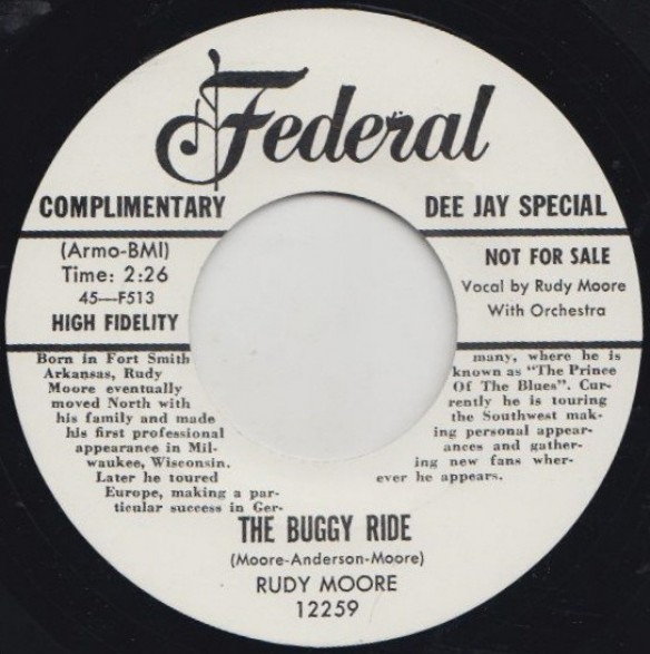 "RUDY MOORE ""BUGGY RIDE /  RING A-LING DONG"" 7"""