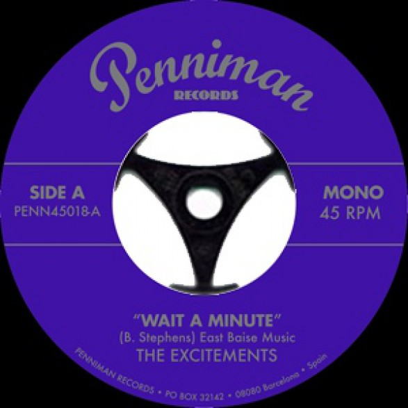 """EXCITEMENTS """"Wait A Minute / Right Now"""" 7"""""""