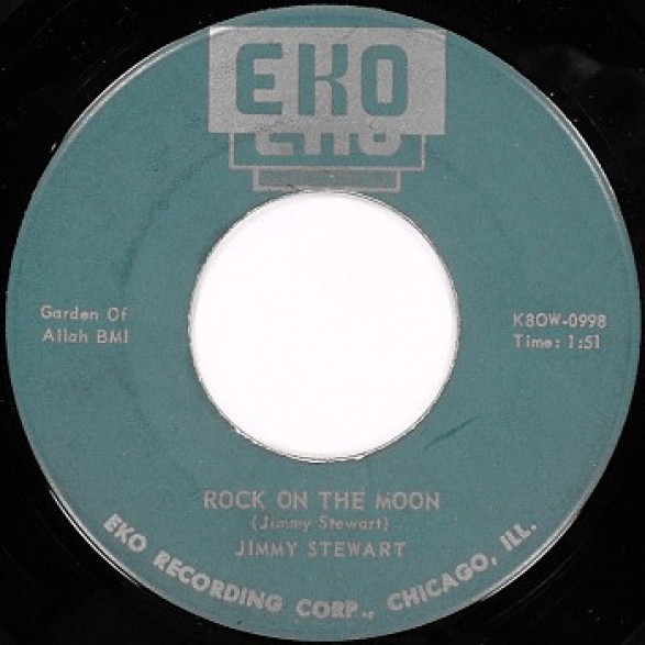 """Jimmy Stewart """"Rock On The Moon / Please Be Mine"""" 7"""""""