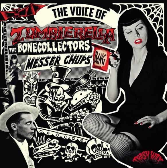 "MESSER CHUPS / BONECOLLECTORS ""THE VOICE OF ZOMBIERELLA"" LP"