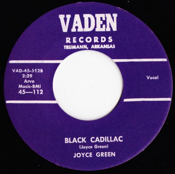 "JOYCE GREEN ""BLACK CADILLAC/TOMORROW"" 7"""