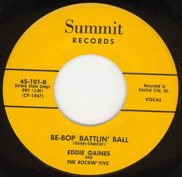 "EDDIE GAINES ""Be-Bop Battlin' Ball / Try This Heart For Size"" 7"""