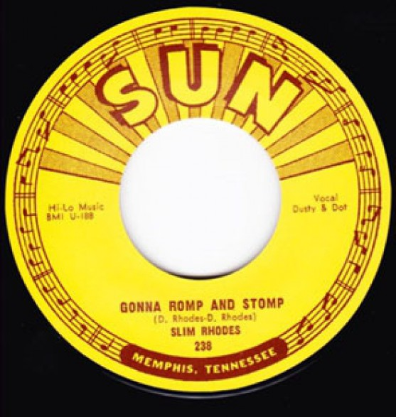 "SLIM RHODES ""GONNA ROMP AND STOMP / BAD GIRL"" 7"""