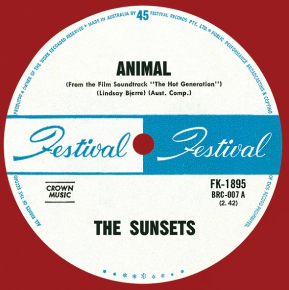 "SUNSETS ""Animal / Uptight, Out Of Sight"" 7"""