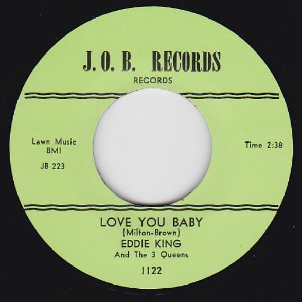 "EDDIE KING ""Love You Baby / Shakin Inside"" 7"""