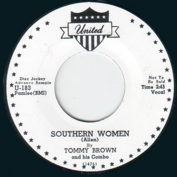 """TOMMY BROWN """"SOUTHERN WOMEN """" / BIG WALTER """"BACK HOME TO MAMA"""" 7"""""""