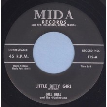 "BILL BELL & THE 4 UNKNOWNS ""Fearless / Little Bitty Girl"" 7"""