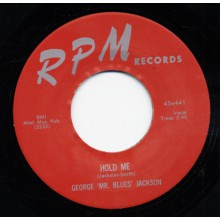 "GEORGE JACKSON ""HOLD ME"" / CONNIE MAC BOOKER ""LOVE ME PRETTY BABY"" 7"""