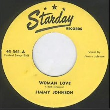 "JIMMY JOHNSON ""Woman Love / All Dressed Up"" 7"""