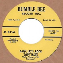 "LEON JAMES ""Thinkin' About You"" / LEON JAMES & RHYTHM ROCKERS ""Baby Let's Rock"" 7"""
