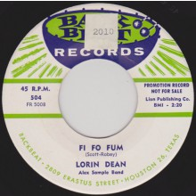 "LORIN DEAN ""FI FO FUM"" / JOHNY SPAIN ""I'M IN LOVE"" 7"""