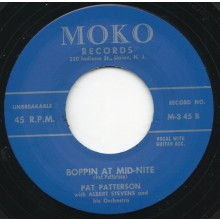 "Pat Patterson With Albert Stevens & His Orchestra ‎""Boppin' At Mid-Nite / Rock An' Roll Story"""