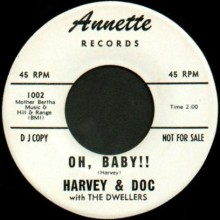 "HARVEY & DOC ""OH,BABY/UNCLE KEV"" 7"""