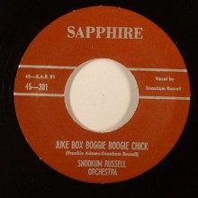 "Snookum Russell Orchestra ‎""Juke Box Boggie Boogie Chick/Basin Street Ain't Basin Street Anymore"" 7"""