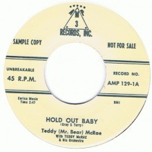 "TEDDY McRAE ""HI FI BABY/HOLD OUT BABY"" 7"""